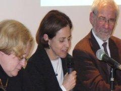 Mme Mireille Barrier, adjointe à la culture à Poitiers, Madame Pilar Armanet, ambassadrice du Chili en France, Monsieur Jean-Claude desoyer, président de l'Espace Mendès France