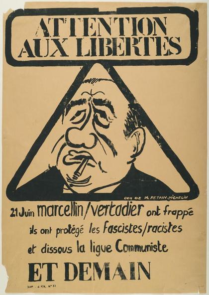 Une affiche poitevine de l'époque