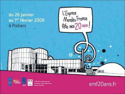 Visuel des 20ans de l'EMF, janvier 2009