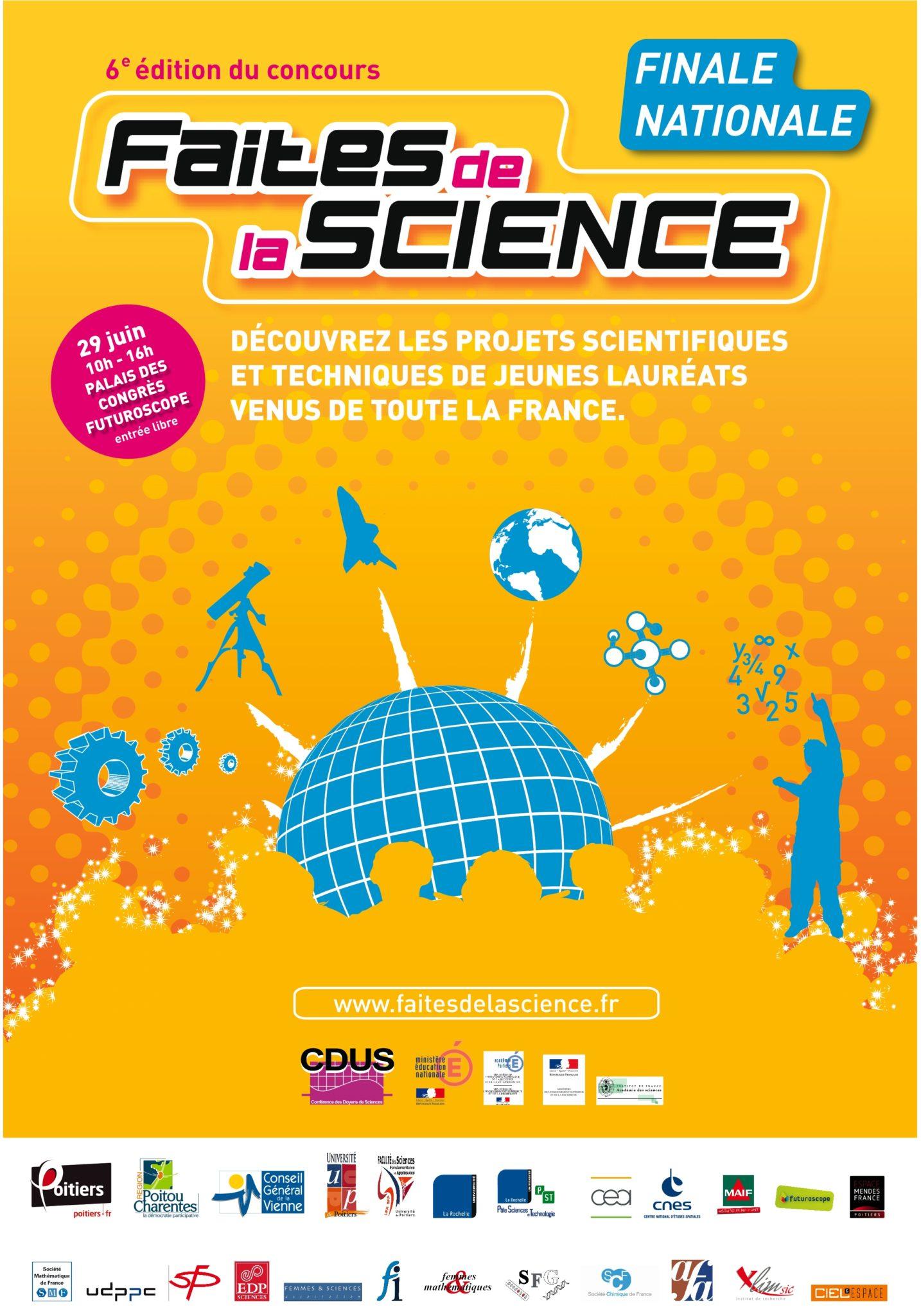 Finale nationale de la 6e édition du concours Faites de la science