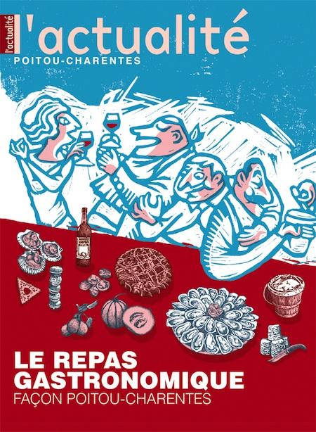 Parution de L'Actualité Poitou-Charentes n°93, spécial été, Le repas gastronomique
