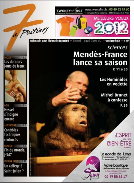 Diffusion du programme à Poitiers et aux alentours par l'hebdo 7 à Poitiers