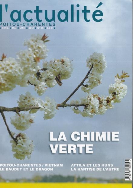 Parution de L'Actualité Poitou-Charentes n°96 — Chimie verte