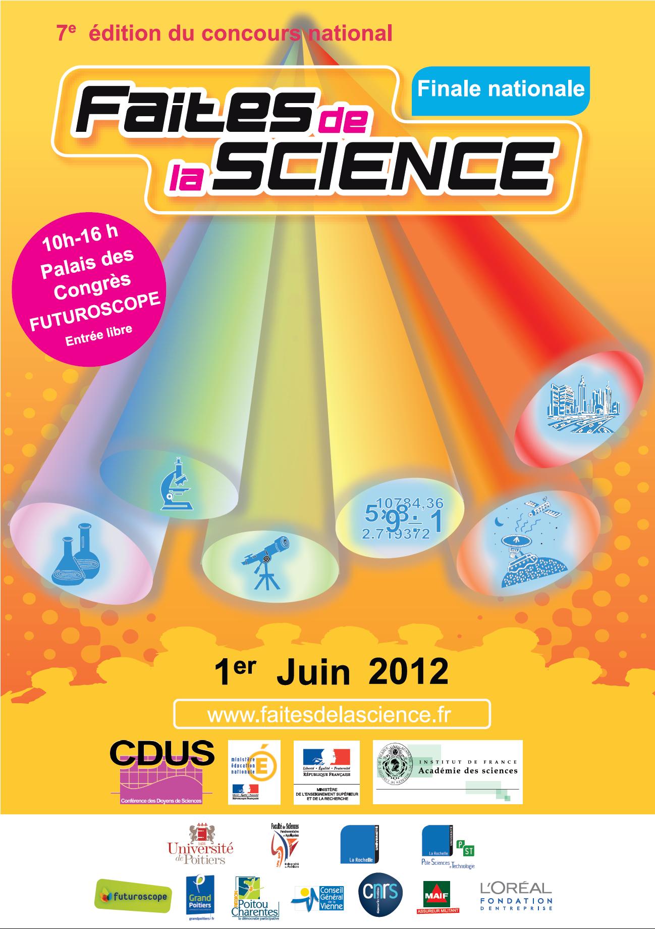 Finale nationale du concours Faites de la sciences