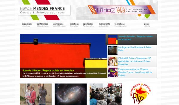 Le site de l'Espace Mendès France change de look et de nom (expérimental)