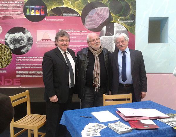 De gauche à droite, MM Didier Moreau, Michel Brunet et Jean-Louis Philippoteau