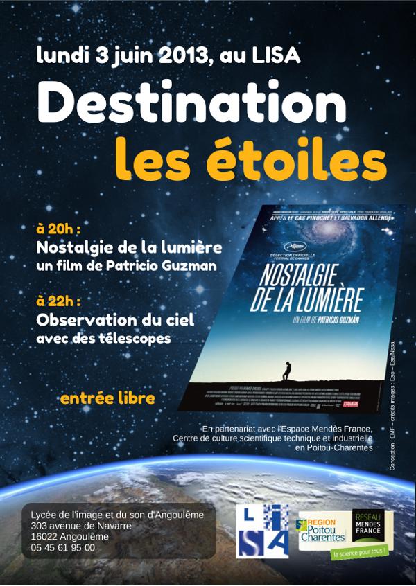 Destination les étoiles – Soirée d'astronomie au LISA