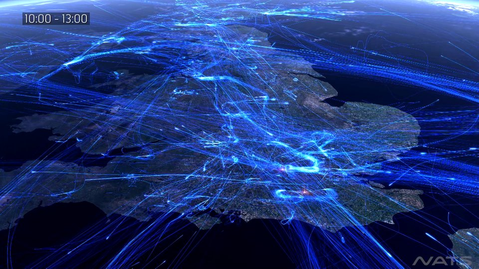 24 heures de trafic aérien en Europe
