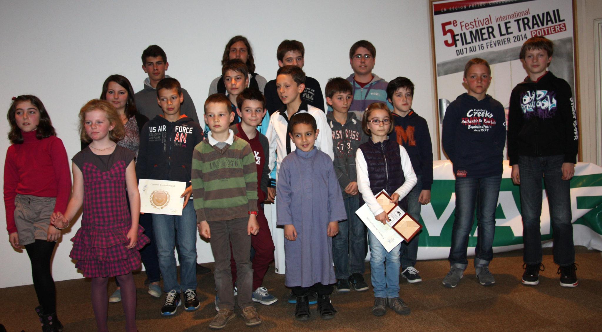 Les gagnants du concours académique de calcul mental 2014