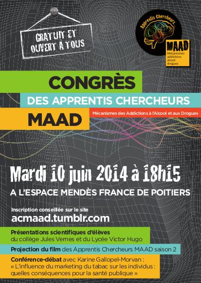Congrès des Apprentis Chercheurs MAAD –  spécialité « addictions »