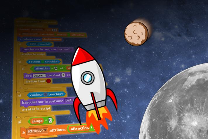 Scratch sur la Lune