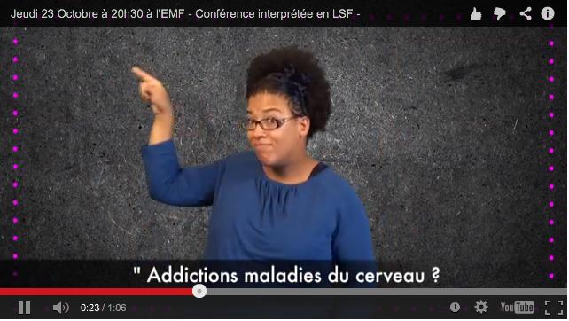 Conférences traduites en langue des signes