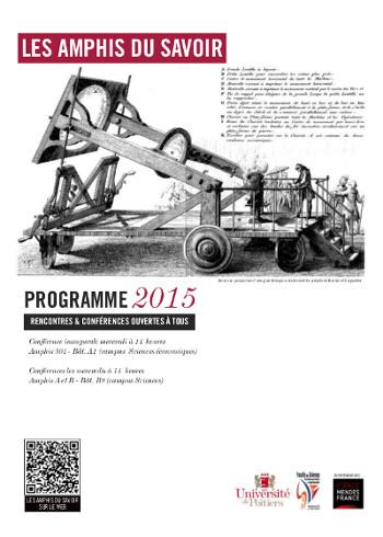 Programme «Les amphis du savoir» 2015