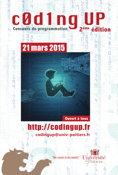 c0d1ngUP : deuxième édition du concours de programmation