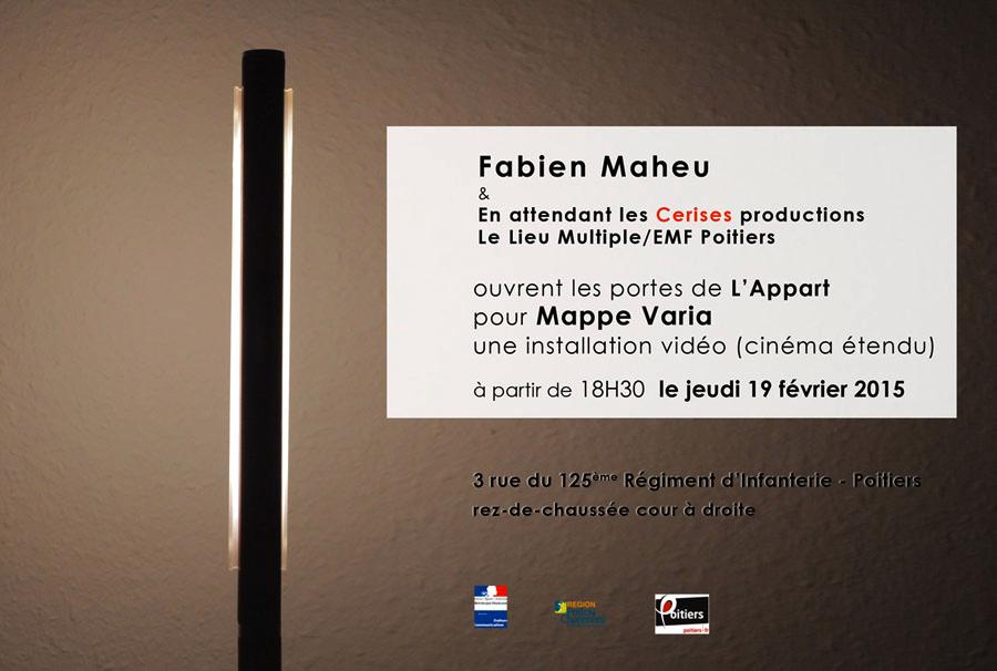 Vernissage Mappe Varia – Fabien Maheu