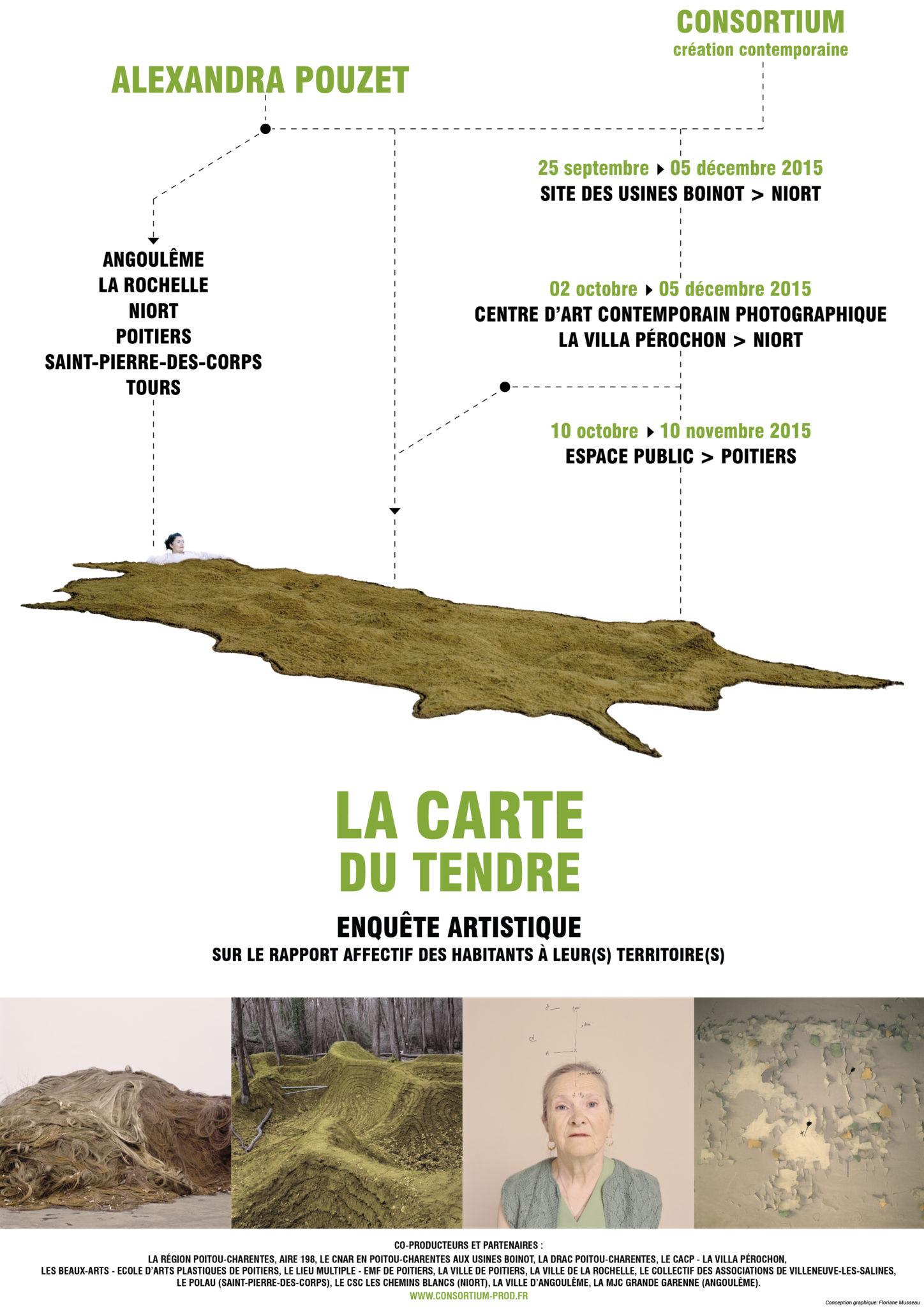 Affiche Carte du Tendre