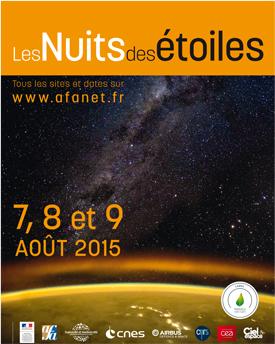 Nuits des étoiles 2015 en Poitou-Charentes
