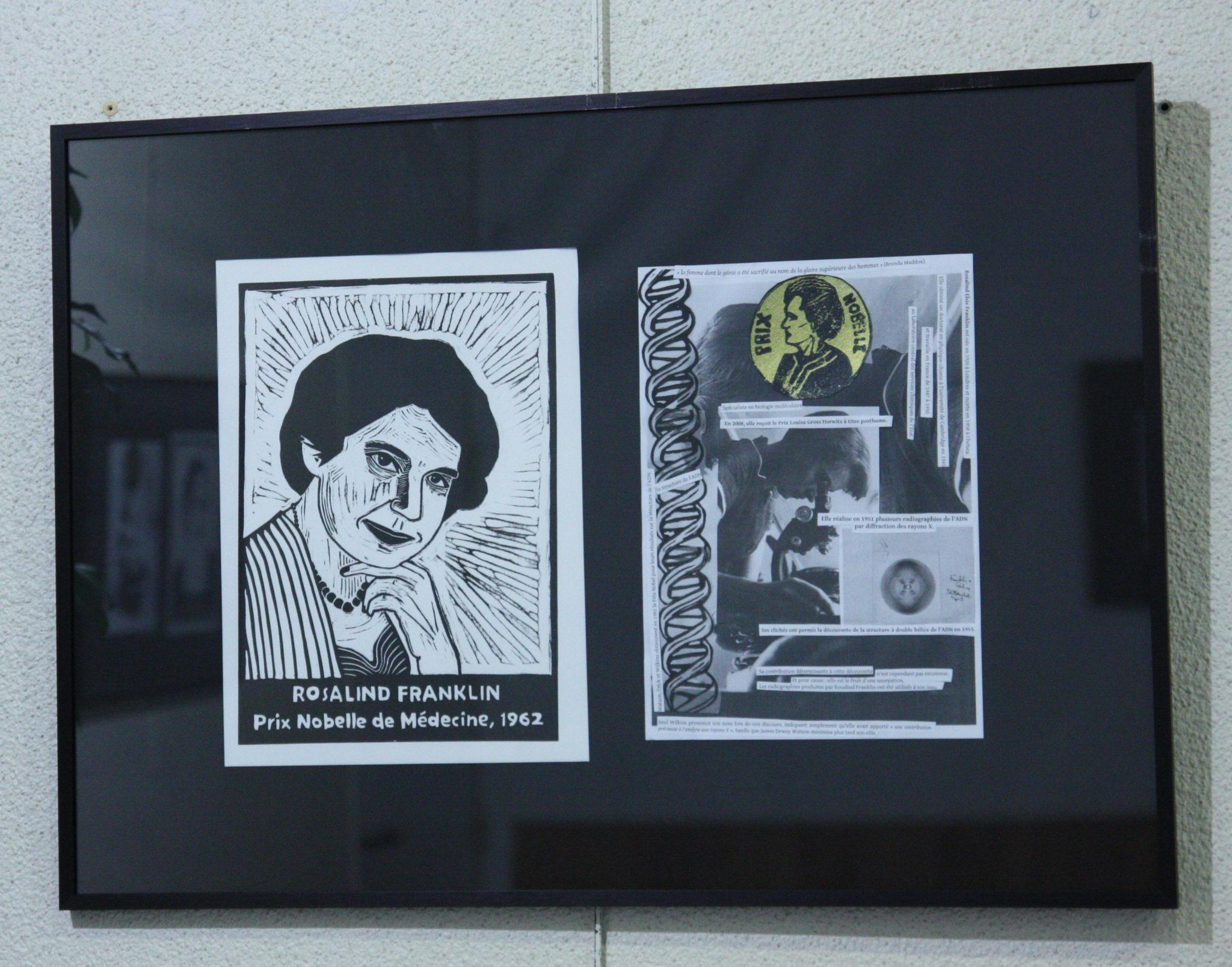 La  Fanzino à l'EMF : Prix Nobelles – Linogravures et collages de Maëva Paupert & Mélitruc & Traxion par Paul Poutre