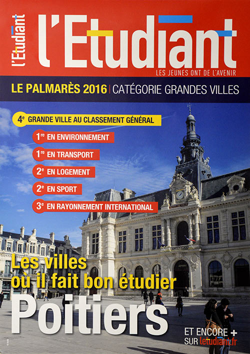 Poitiers, 4e grande ville au classement des villes où il fait bon étudier !