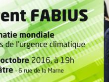 Retrouvez la vidéo de la conférence de Laurent Fabius à Poitiers «La diplomatie mondiale au secours de l'urgence climatique»