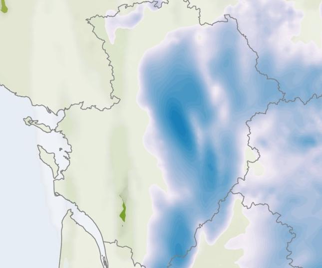 Carte météo de la journée du 9 mai 2016