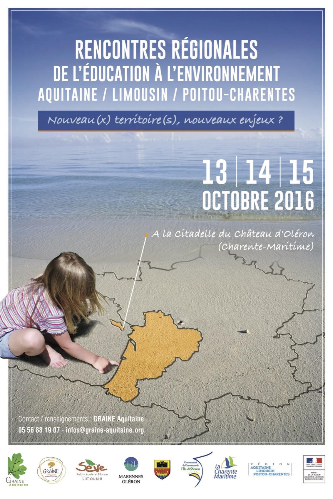 Rencontres régionales de l'éducation à l'environnement Aquitaine / Limousin / Poitou-Charentes