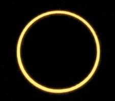 Eclipse annulaire depuis la Réunion