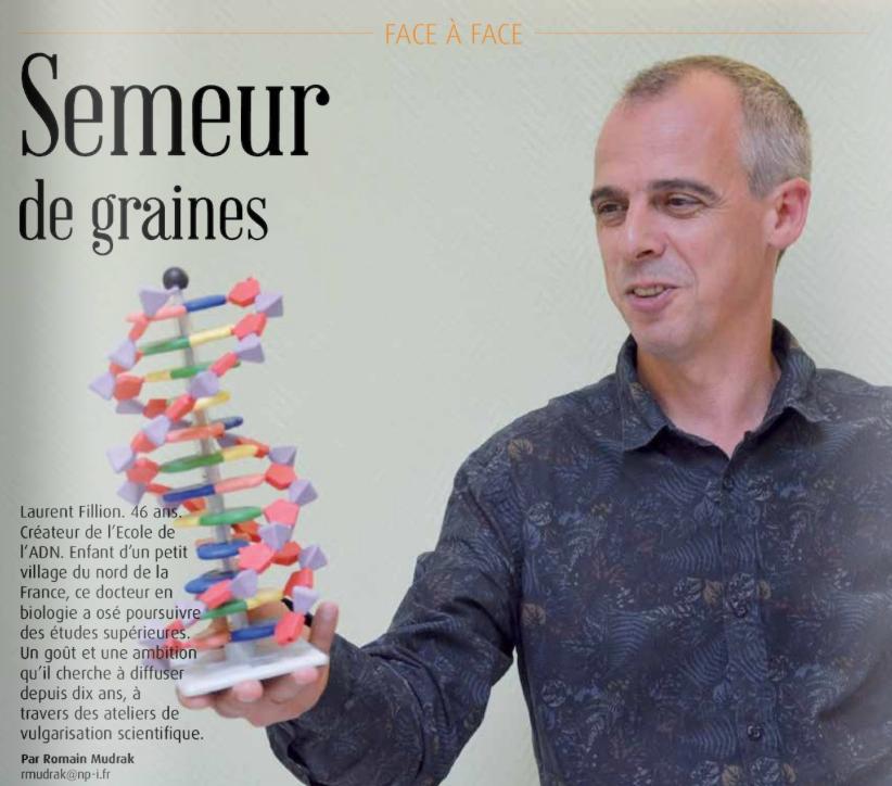Portrait de Laurent Fillion // École de l'ADN