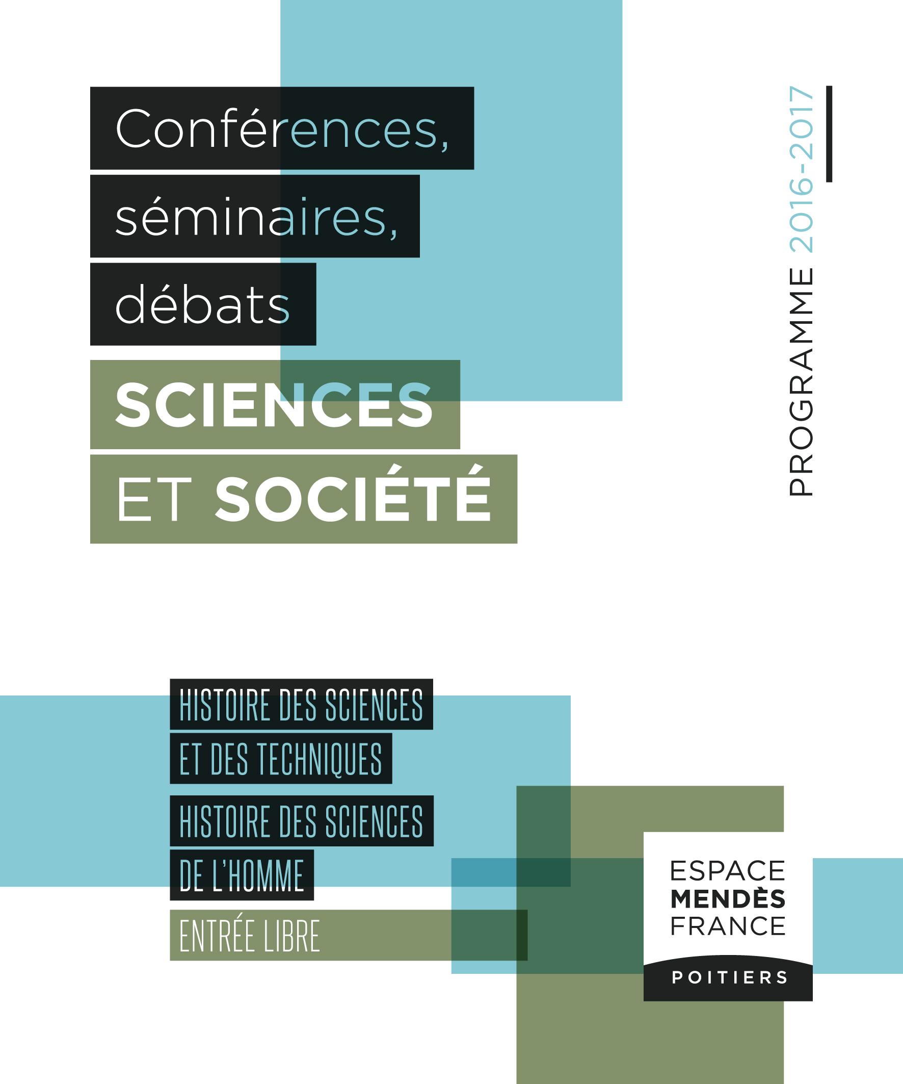 Programme Histoire des sciences et des techniques & des sciences de l'homme 2016-2017