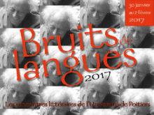 Bruits de langues 2017 // Du 30 janvier au 2 février 2017