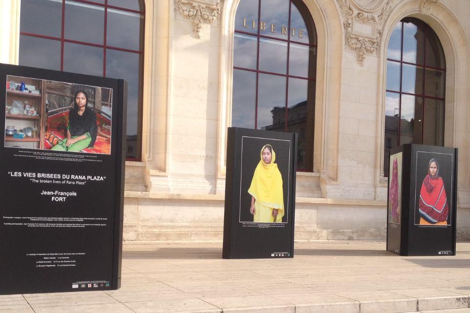 Exposition « Les vies brisées du Rana Plaza » de Jean-François Fort