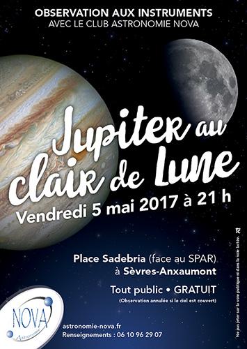Jupiter au clair de la Lune