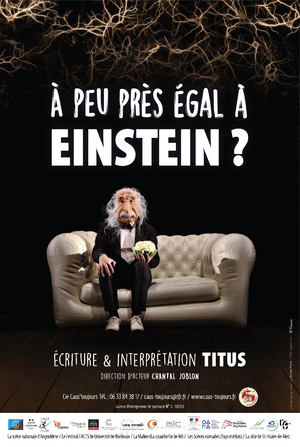 À peu près égal à Einstein ? – Vendredi 19 janvier à 20h30 à la M3Q