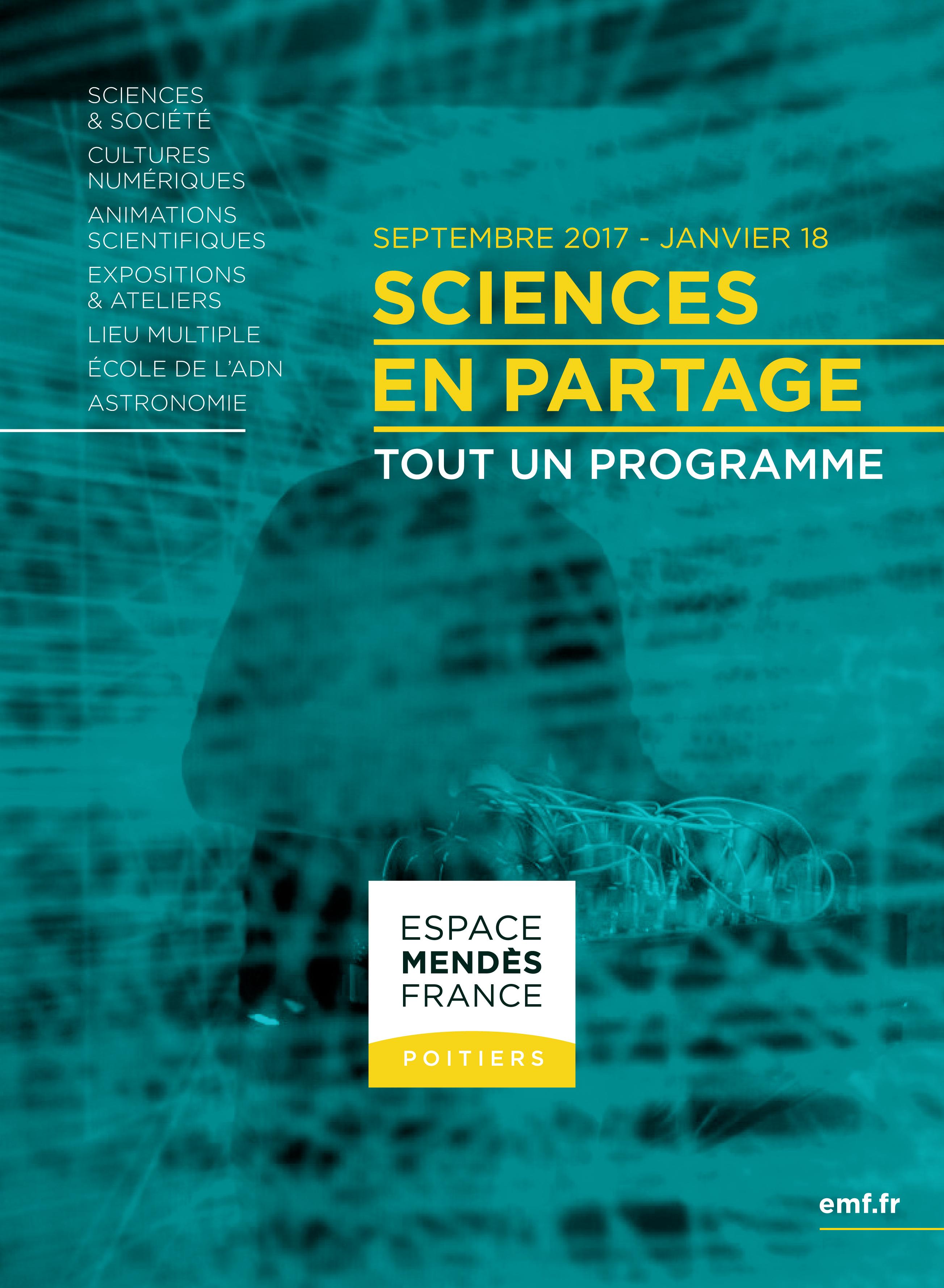Programme de l'Espace Mendès France septembre 2017