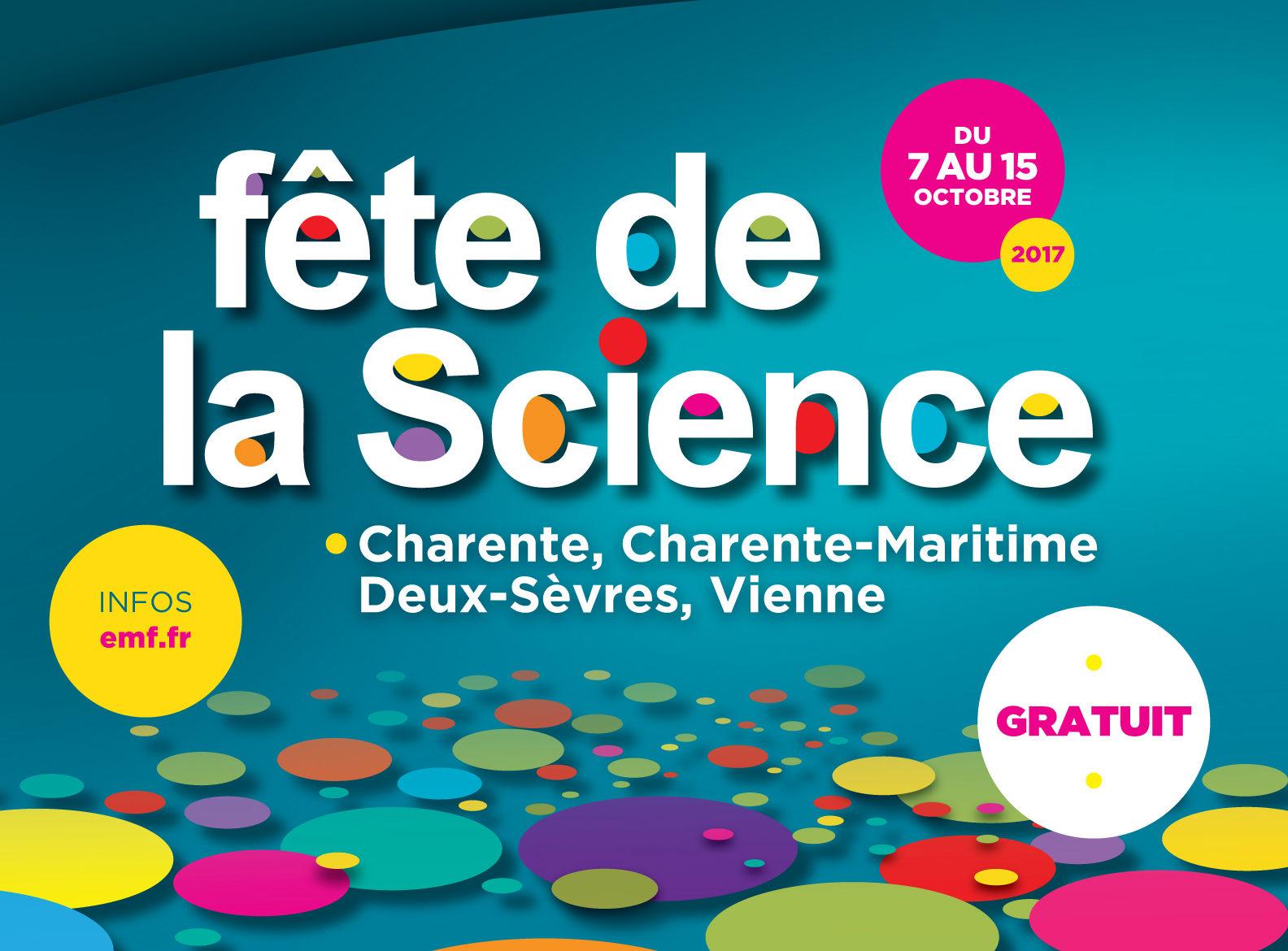 La Fête de la science du 7 au 15 octobre 2017 – Dans la Vienne et à l'Espace Mendès France