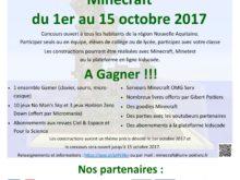 Concours de construction sous Minecraft – Du 1er au 15 octobre 2017