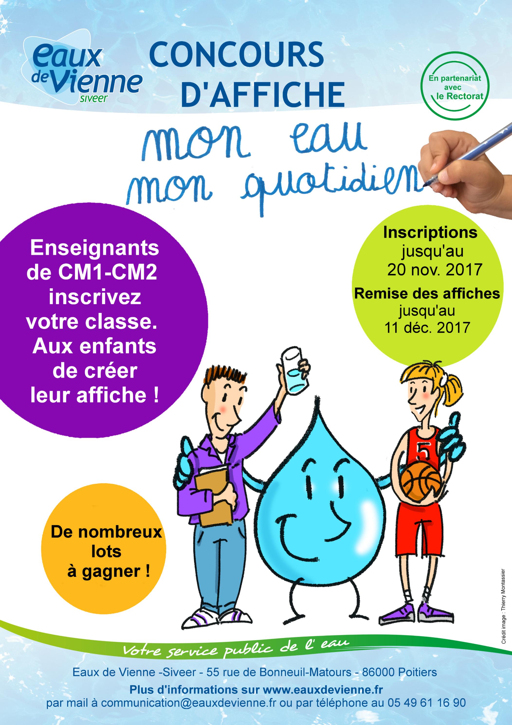 Concours d'affiche «Mon eau, mon quotidien»