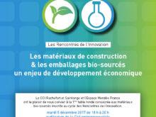 Rencontres de l'Innovation autour des matériaux bio-sourcés – Cité entrepreneuriale de Saintes